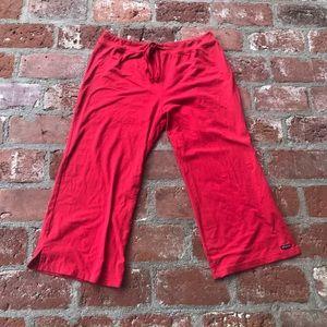 Athleta Red crop pants